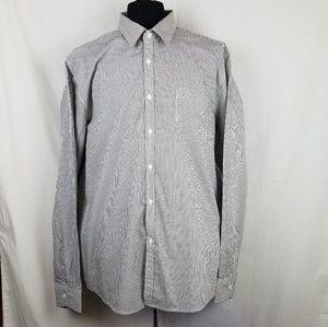 Kenneth Cole Reaction 2XL Dress shirt Black/White